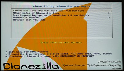 Backup your installation with Clonezilla