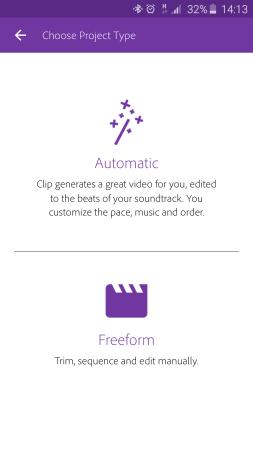Brief view Adobe Premiere Clip