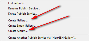 Lightroom and WordPress gallery NextGen