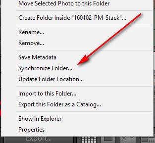 Lightroom folder synch faster than import