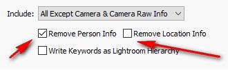 Controlling metadata with Lightroom