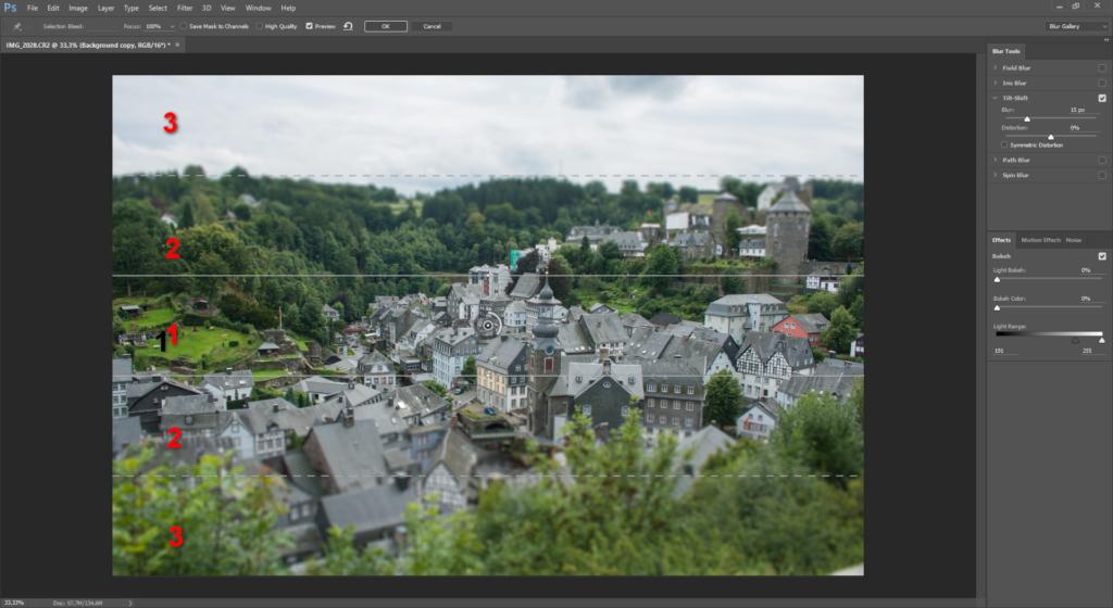 Photoshop CC Tilt Shift filter