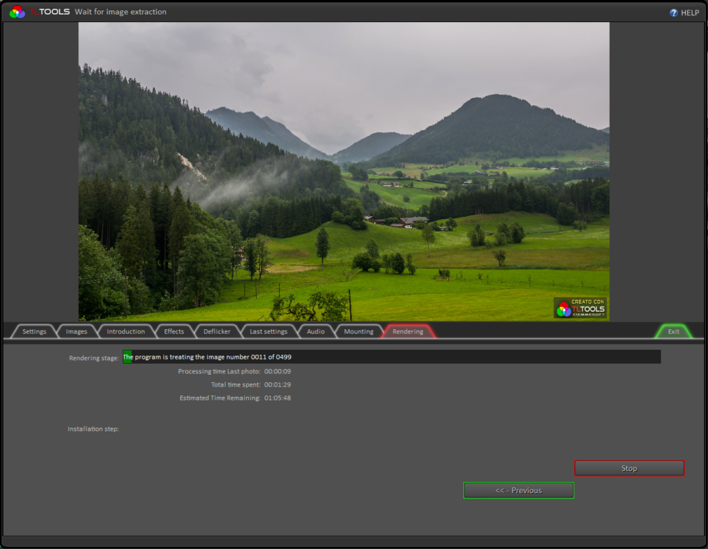 Timelapse videos with TLTools