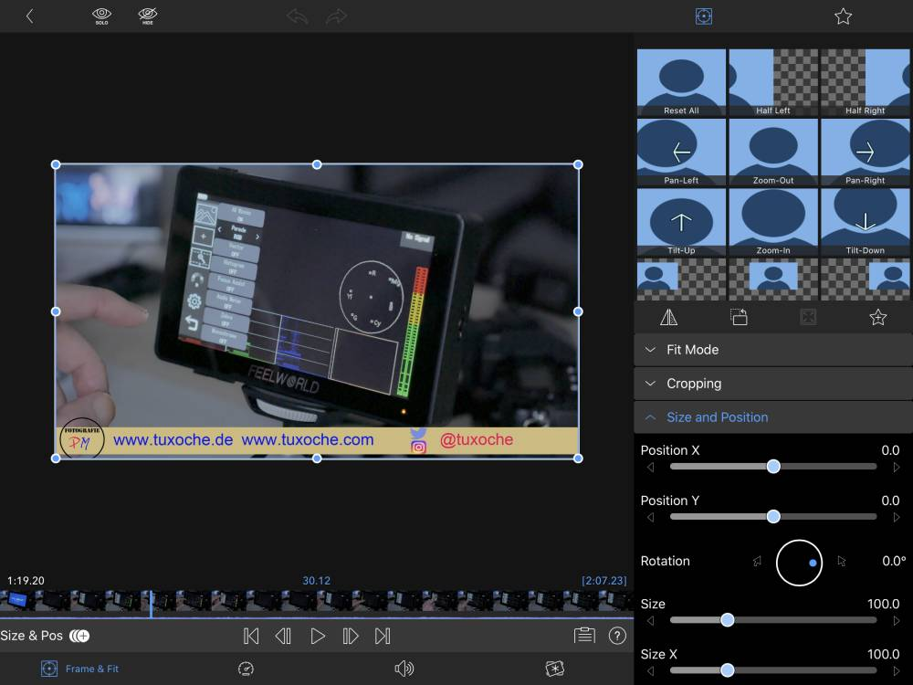 Video editing on the iPad Air