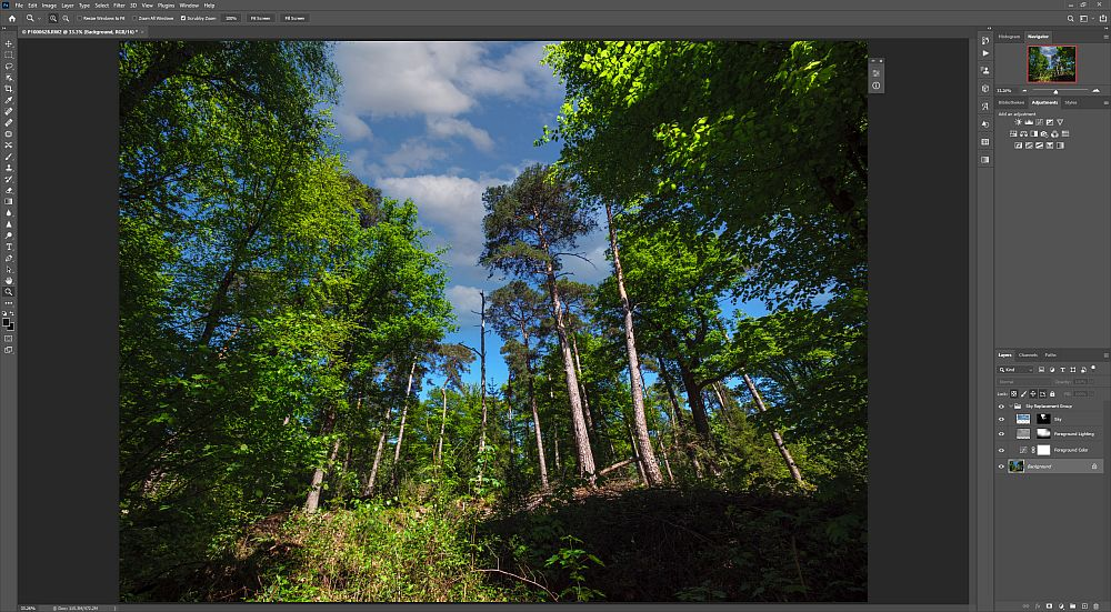 Adobe implements sky replacement