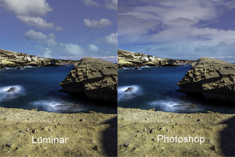 Sky replacement in Luminar AI and Photoshop CC