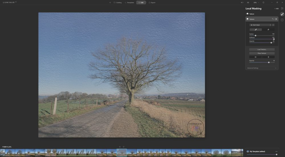 Luminar AI Update2 with sky reflections